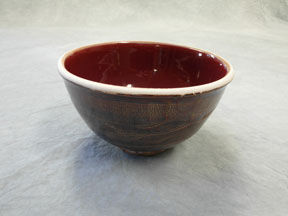 Bowl: Pete's Copper Red and Honey Luster on porcelain